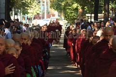 30099728 (wolfgangkaehler) Tags: 2017 asia asian southeastasia myanmar burma burmese mandalay mahagandayonmonastery mahagandayonmonastary people person monks buddhist buddhistmonasteries buddhistmonastery buddhistmonk buddhistmonks almsceremony almsbowls meal