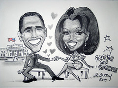 Barack & Michelle. 2009 by Stephen B Whatley (Stephen B Whatley) Tags: world africa woman usa news man black sexy love smile smart lady america hearts stars hope freedom washingtondc us washington glamour couple artist peace time kenya drawing flag muslim president whitehouse cartoon handsome marriage happiness celebration suit international american harmony caricature africanamerican government states democrats obama glamor global firstlady starsstripes timemagazine barackobama thewhitehouse sexappeal blueribbonwinner democratparty mywinners abigfave michelleobama presidentobama stephenbwhatley obamacartoon obamacaricature barackobamacartoon barackmichellecartoon barackmichelleobamacartoon presidentobamacartoon presidentfirstladyobamacartoon barackobamamichelleobamacartoon