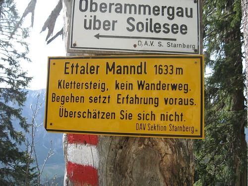 Gefährlicher Klettersteig...