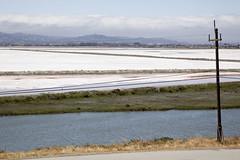 Salt (mrjoro) Tags: california park lenstagged unitedstatesofamerica salt pole saltpond menlopark bayfrontpark starred canonef24105f4l saltevaporationpond canon5dmarkii bedwellbayfrontpark electricpol