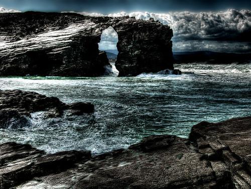 Playa de las catedrales. Arco. Cathedrals beach. Arch.