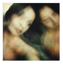 polaroid (adaylikesunday) Tags: polaroid selfportraits disturbing destroyed
