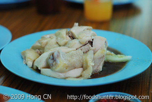 Cooked Chicken with soya sauce & cucumbers