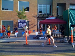 Emily finishing the Fremont 5k