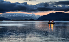 Midnight! (larigan.) Tags: sea sky mountains clouds reflections midnight fjord trawler lesund aalesund abigfave platinumphoto anawesomeshot citrit larigan valderyfjord phamilton gamlemstveiten licensedwithgettyimages