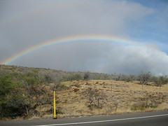 Double rainbow, drive back to Waikoloa from north
