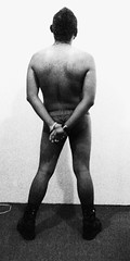 Becoming One (JOTHAN) Tags: boy hairy brown white selfportrait man black male blanco portraits dark naked beard intense shadows floor y skin boots interior alma manly yo negro autoretrato meat soul chico carne moreno viril sombras hombre barba botas suelo desnudo obscuro piel intenso masculino   retratro  virile       i      velludo varonil