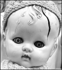 Broken Doll (Cul 9) Tags: doll market tynemouthmarket blackwhitephotos
