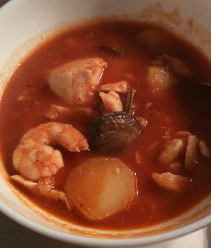 Bliss cooks: seafood soup