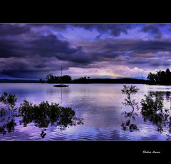 Great Sacandaga Lake at dusk (Shobeir) Tags: sunset upstatenewyork lightreflection hdr adirondack photomatix greatsacandagalake lakereflection tonemapping newyorklandscape saratogacounty sacandagalake platinumphoto photoshopcs3 naturallake shobeiransari mayfieldnewyork northeastscenics upstatenewyorkscenics