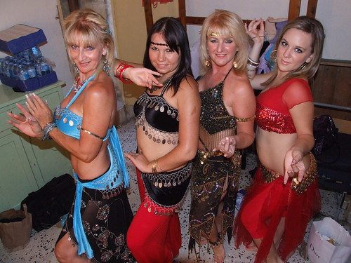 Arabic Belly Dancers Karen, Ira, Paula and Corinne perform in Malta