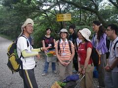 特約講師蔡桉浩進行生態導覽