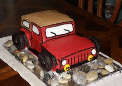 Jeep Cake (Hammer51012) Tags: birthday red cake jeep donuts cutup chocholate sp550uz