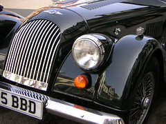 100 years of Morgan (Katie-Rose) Tags: uk black car buildings reflections gloucestershire morgan tewkesbury anniversay 100years abigfave fbdg konicaminoltadimagex20