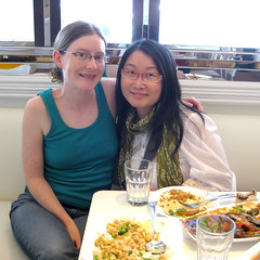The food bloggers meet over vegan-Asian-fusion - delicious!