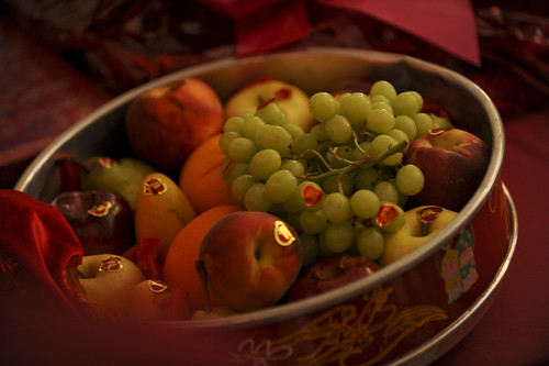 Wedding Tea Ceremony Detail:Fresh Fruit