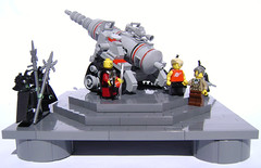 Wang's Master Plan (DARKspawn) Tags: gun ray lego space cannon laser artillery classicspace retrospace doomray