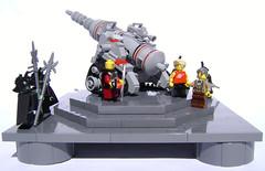 Wang's Master Plan (DARKspawn) Tags: gun ray lego space cannon laser artillery classicspace retrospace doomray