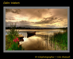 Calm Waters (Irishphotographer) Tags: ireland sunset lake holiday water sunrise dawn fishing dusk shoreline panasonic shore kinkade lougherne calmwaters beautifu