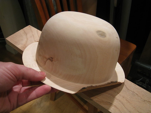 Jacaranda hat with curled bark edges