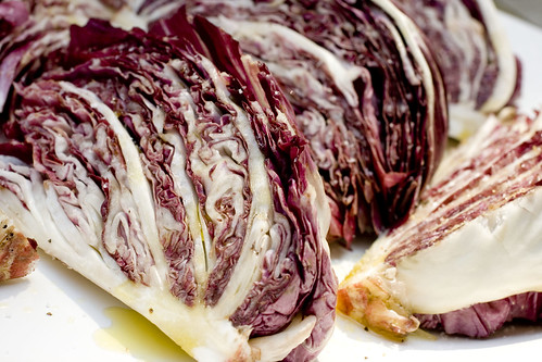 drizzled olive oil on radicchio  2