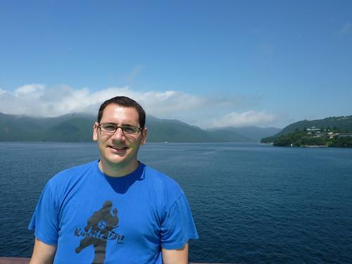 Lago Hakone y yo mismo