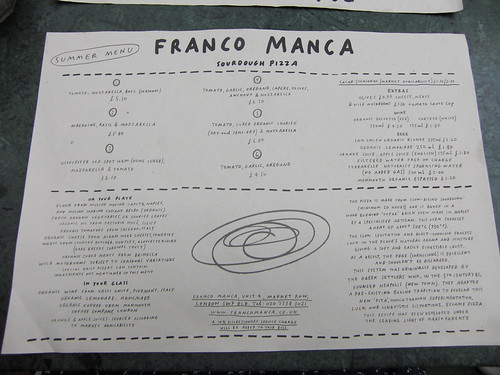 Summer Menu @ Franco Manca