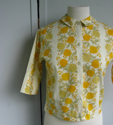 yellow roses blouse