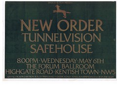 New Order, Tunnelvision, Safehouse at the Forum, London 1981 (Superbawestside1980) Tags: punk post