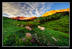Morning in Albion Basin (James Neeley) Tags: landscape james utah explore saltlakecity alta frontpage hdr alpenglow littlecottonwoodcanyon albionbasin neeley 5xp vosplusbellesphotos