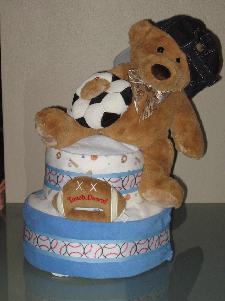 Beary Sporty Diaper Cake
