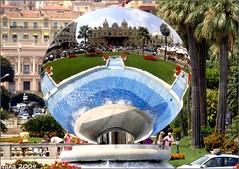 ESPEJITO...CUAL ES EL PRINCIPADO MAS BONITO???....MONACO!!!!!!!! (nanettesol) Tags: viaje flowers costa fountain azul gardens casino montecarlo monaco lanscape principado mirrow lujo