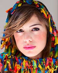 Any Colour You Like (Lidia Camacho) Tags: maribel beautiful gorgeous face portrait colors fringes threads left loose natural light colorful rainbow beautyshoots cara retrato multicolor colores multiples arcoiris