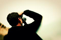 Standing alone on the cliffs of the world. (underthewaves) Tags: sanfrancisco california camera people cliff fog photographer baths photowalk sutro oceanbeach 2009 32 kyuss photoshopcs3 lightroom2 lensbabycomposer imageslasauvette utwtrml