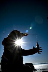 Ice Fishing (Alex Worren) Tags: blue sun fish norway fishing mjsa