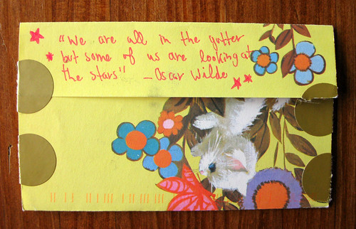 Vintage kitty quotes Oscar Wilde