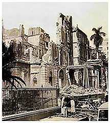 Shepheard's Hotel In Cairo After The Great Cairo Fire In 1952 (Tulipe Noire) Tags: africa fire hotel ruin egypt middleeast cairo 1950s 1952 shepheards