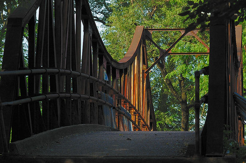 Bridge over Metrolink, in Forest Park, Saint Louis, Missouri, USA