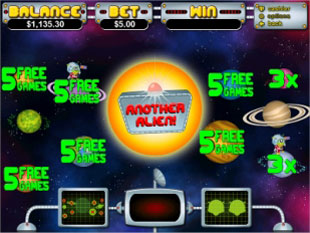 free Outta This World gamble bonus game