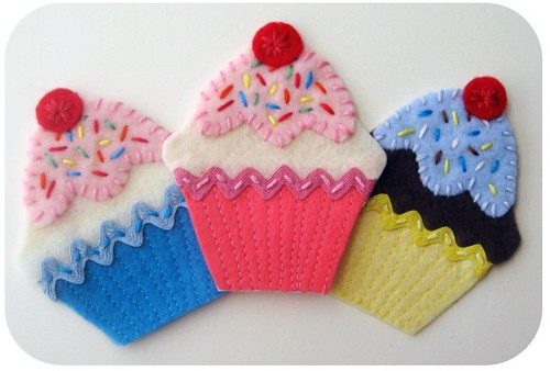Cupcake Iron On Patches/Appliques