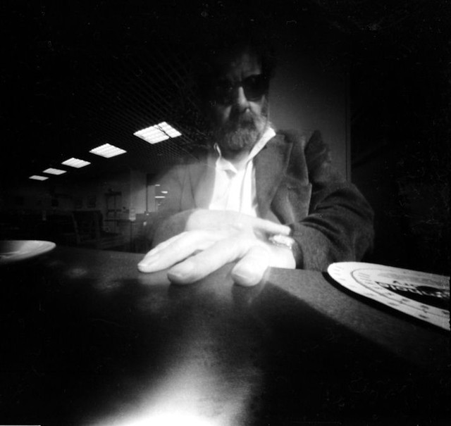 Pinhole Self Portrait in a Cafe