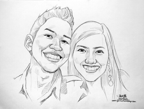 Couple portraits in pencil 240909