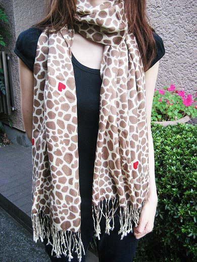 Giraffe Print Scarf from FREE'S SHOP