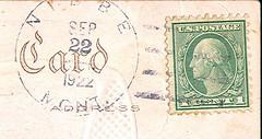Nibbe, Montana (Postmarks from Montana) Tags: montana 1922 postagestamp postmark nibbe september22