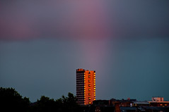 End of the Rainbow (beechlights) Tags: sunset london evening rainbow dusk south southlondon towerblock councilestate councilflats