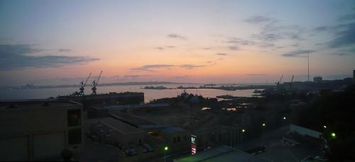 Sunrise over Baku Bay