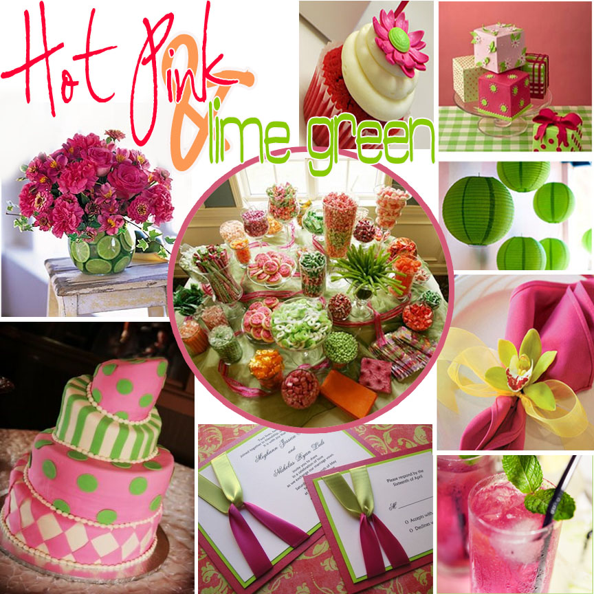 Pink and Lime Inspiration board