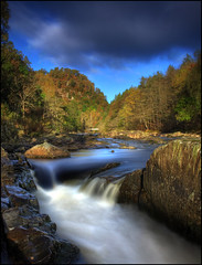Linn of Tummel (angus clyne) Tags: autumn pine river scotland waterfall perthshire falls birch linn spruce scots pitlochry flikcr clunie rivertummel faskally fincastle linnoftummel coronationbridge