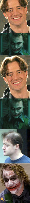 joker vs brendan fraser