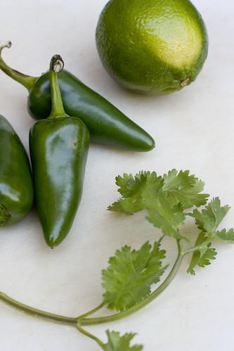lime, jalapeno, cilantro
